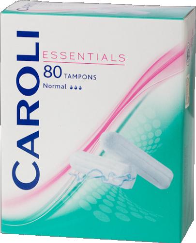 Caroli Essentials tamponai Normal, 80 vnt